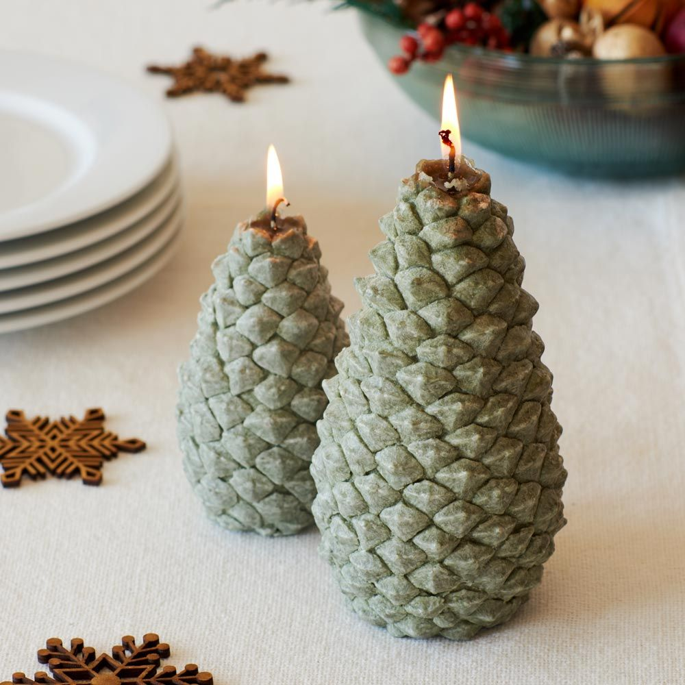Fragrant Pine Cone Candles