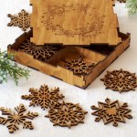 Keepsake Wooden Snowflakes