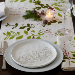 Holiday Greens Table Settings and Plates