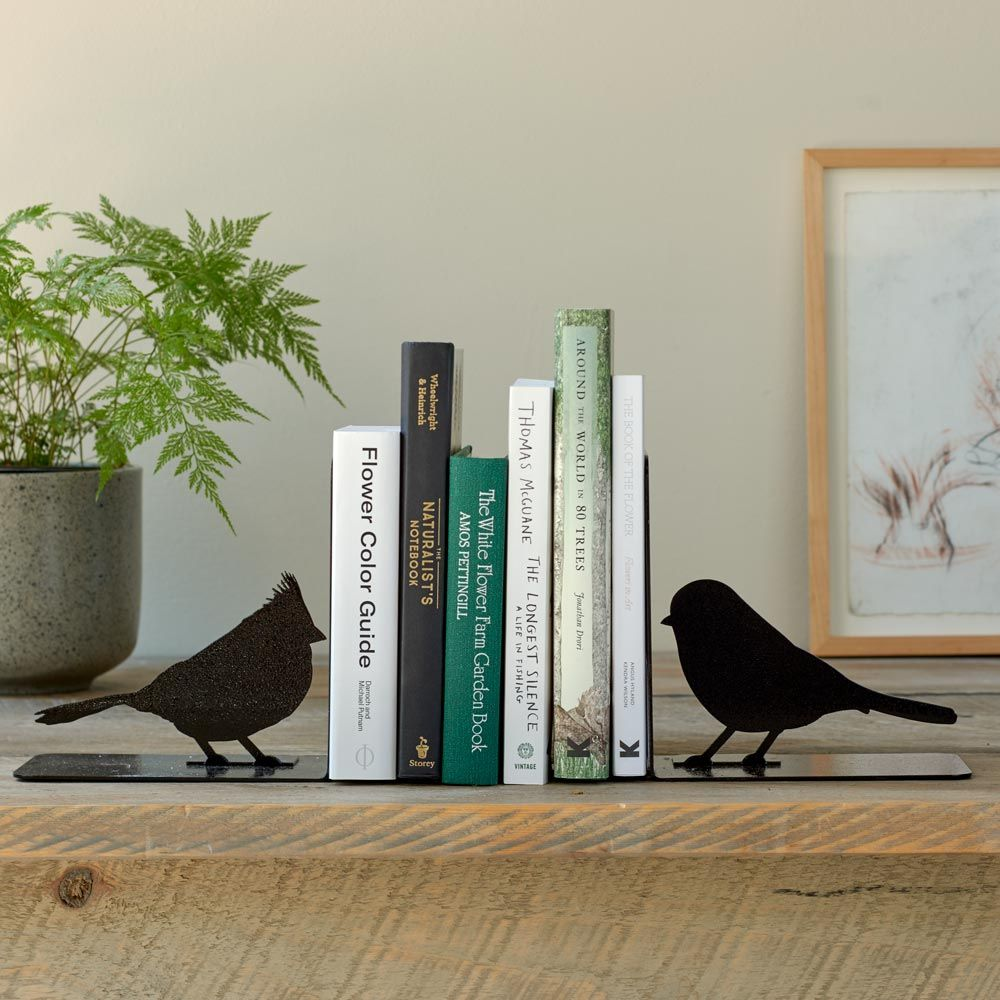 Handmade Songbird Bookends