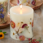 Decorative Rose-Scented Candle