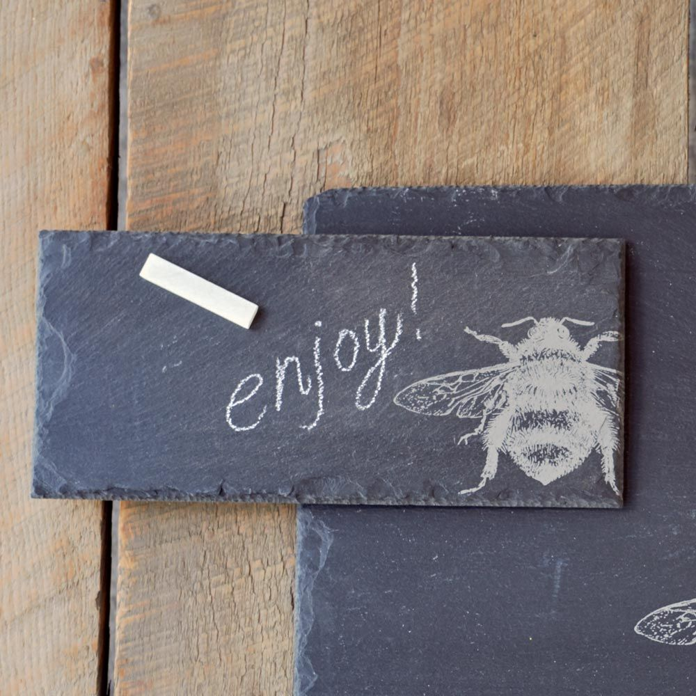 Honey Bee Slate Serving Tray