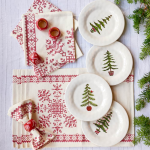 Holiday Tree Plates, set of 4