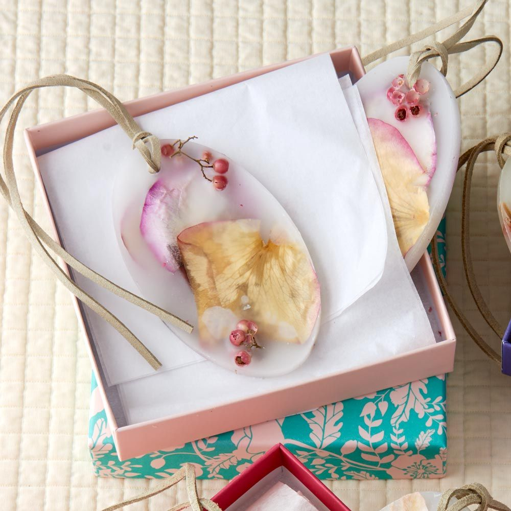 Rose Botanical Wax Sachet, set of 2