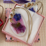 Violet Botanical Wax Sachets, set of 2