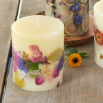 Decorative Violet-Scented Candle
