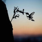 Decorative Metal Hummingbird Silhouette