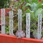 Stenciled Vegetable Marker Stakes