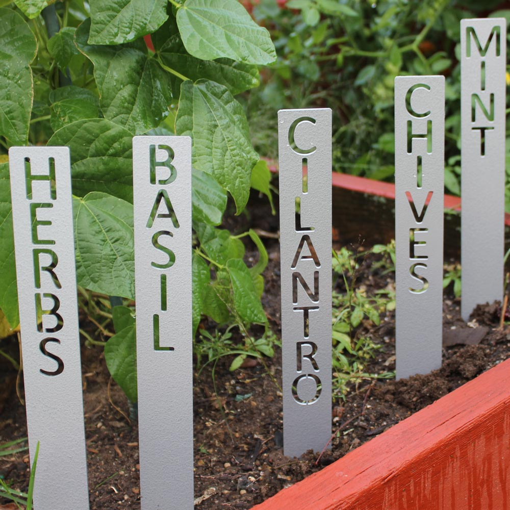 Stenciled Herb Marker Stakes