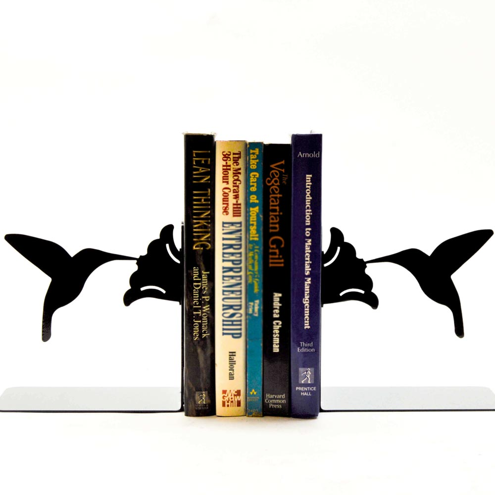 Handmade Hummingbird Bookends