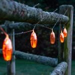 Radiant String of Solar Lanterns - Copper