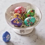 Hand-Painted Floral Eggs