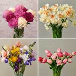 Four Months of Spring Flower Bouquets, March - June