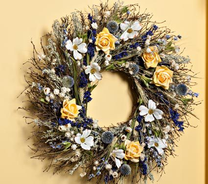 Sunshine and Roses Wreath