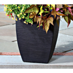 Black Svelte Resin Planter