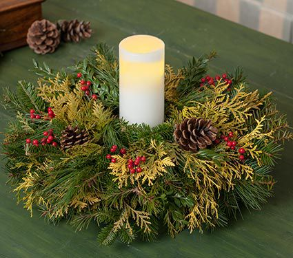 Golden Greens Centerpiece