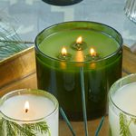 Thymes Frasier Fir Green Glass Candle, large