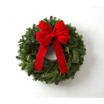 Classic Simplicity Wreath with Red Bow