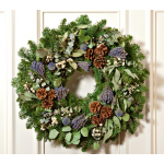 Lavender Holiday Wreath