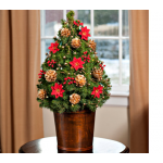 Holiday Blooms Tabletop Tree