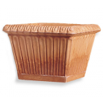 Fluted Square Planter