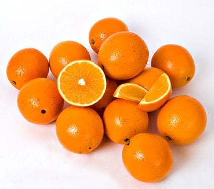 Florida Navel Oranges, 10-lb box of 15-18 fruits